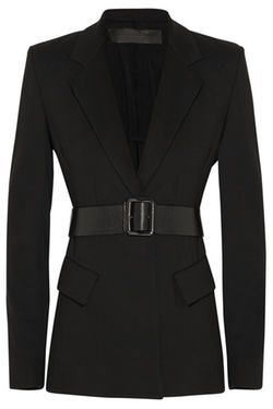 Donna Karan New York - Belted Stretch-Ponte Jacket
