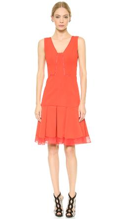 J. Mendel  - Sleeveless Techno Jersey Dress