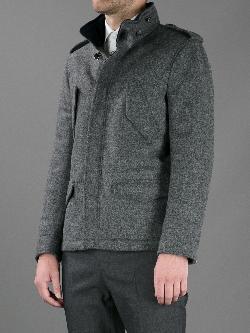 FAY  - tweed padded jacket