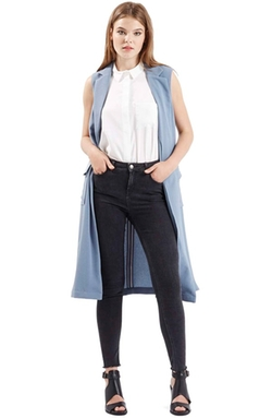 Topshop - Sleeveless Utility Duster Vest