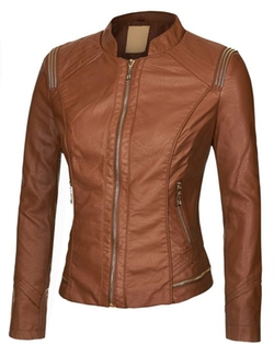 Lock And Love - Womens Quilted Biker Jacket