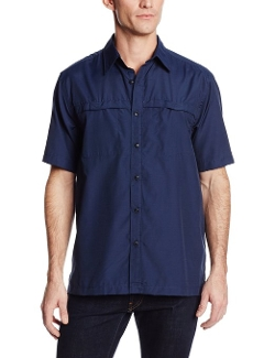 Arrow - Short Sleeve Solid Performance Button Down Shirt