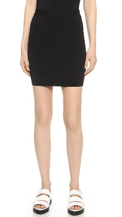 T By Alexander Wang - Compact Knit Pencil Skirt