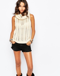 Stitch & Pieces  - Sleeveless Tunic Sweater