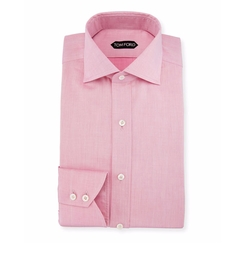 Tom Ford  - Slim-Fit Iridescent Barrel-Cuff Dress Shirt