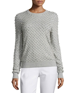 Michael Kors Collection  - Rhinestone-Embellished Cashmere Sweater