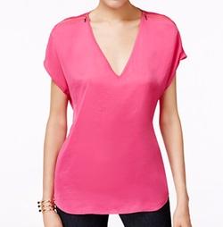 Inc International Concepts - Zip-Shoulder V-Neck Top