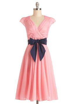Modcloth - Have the Dance Floor Dress in Pink Dots