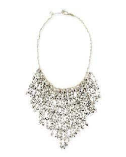Nakamol  - Crystal Fringe Bead Necklace