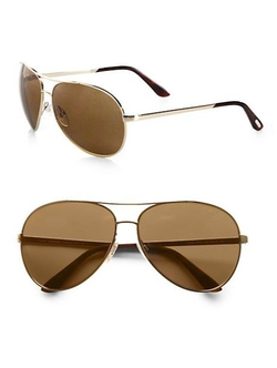 Tom Ford Eyewear  - Charles Polarized Aviator Sunglasses