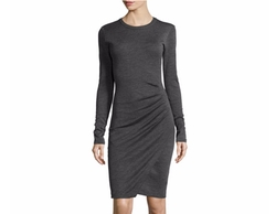 Michael Kors  - Long-Sleeve Ruched Jersey Dress