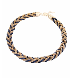Chicnova - Weaving Bread Twist Necklace
