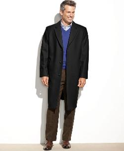 London Fog  - Signature Wool-Blend Overcoat