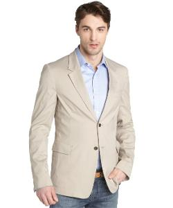 Prada  - Tan Cotton Two Button Blazer