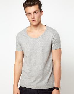 ASOS  - T-Shirt With Bound Scoop Neck