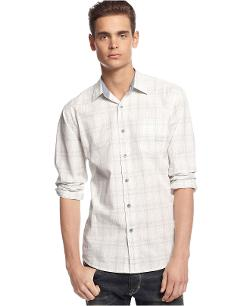 American Rag  - Ghost Slim-Fit Plaid Shirt