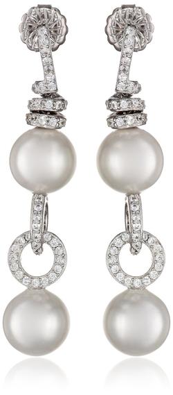 Bella Pearl - Shell Pearl Drop Earrings