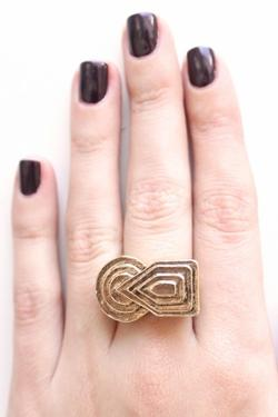 Low Luv by Erin Wasson - Deco Ring in Gold
