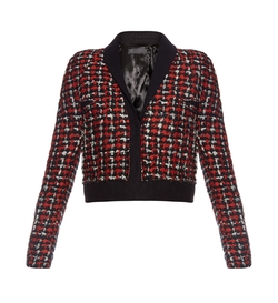 Haider Ackermann   - Tweed Wool Blend Cropped Jacket