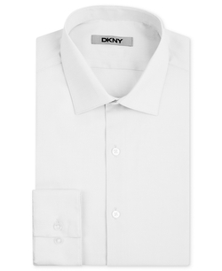 DKNY - Stretch Pinpoint Solid Dress Shirt