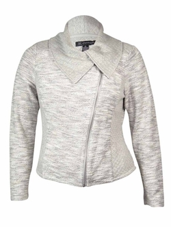Inc International Concepts - Quilt Seam Terry Zip Jacket