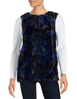 Cece By Cynthia Steffe  - Patchwork Faux Fur Vest