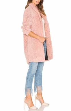 Maison Scotch - Teddy Bear Cocoon Faux Fur Coat