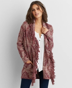 American Eagle Outfitters - Fringe Shawl Collar Cardigan