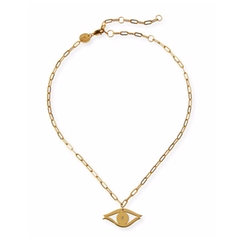 Jennifer Zeuner - Burke Evil Eye Choker Necklace