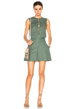Derek Lam 10 Crosby - Sleeveless Lace Up Romper