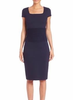 Escada - Short-Sleeve Sheath Dress