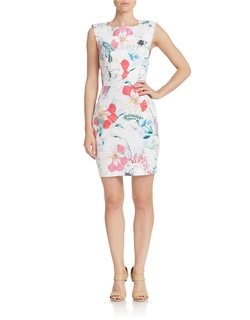 French Connection - Floral Print Sheath Dress