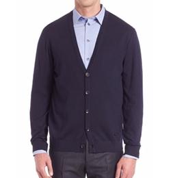 Armani Collezioni - Long Sleeve Wool Cardigan