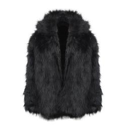 Zicac - Long Sleeve Faux Fur Jacket