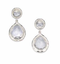 Ippolita  - Clear Quartz Snowman Drop Earrings