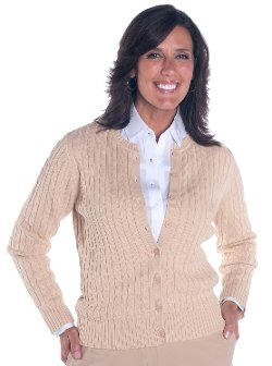 Leon Levin  - Cotton Cable Cardigan