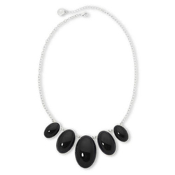 Liz Claiborne - Oval Stone Frontal Necklace