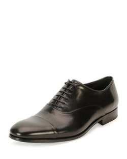 Giorgio Armani  - Leather Cap-Toe Oxford Shoes