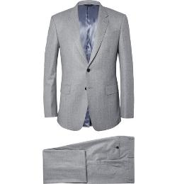 PAUL SMITH LONDON   - Grey Byard Brushed-wool Suit