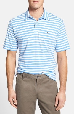 Vineyard Vines  - Classic Fit Stripe Cotton Jersey Polo Shirt