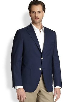 Saks Fifth Avenue Collection  - Classic Wool Blazer