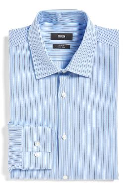 Boss Hugo  - Slim Fit Stripe Dress Shirt