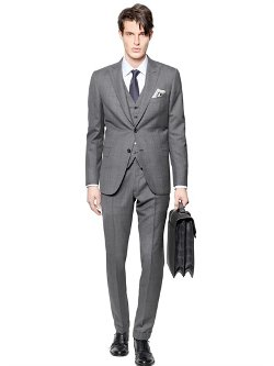 Brioni  - Bracciano Wool/silk 3 Pieces Check Suit