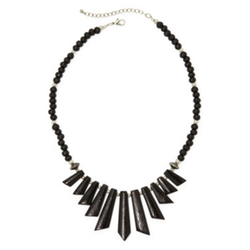 Mixit - Wood Spike Bead Boho Necklace