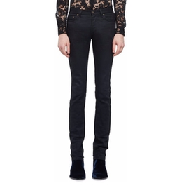 Saint Laurent - Raw Clean-Wash Skinny-Fit Denim Jeans