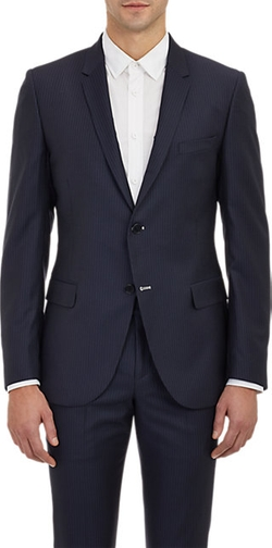 Band Of Outsiders  - Pin-Dot Stripe Schoolboy Blazer