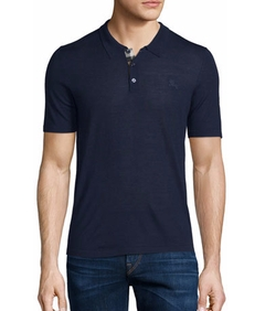 Burberry - Short-Sleeve Check-Placket Polo Shirt