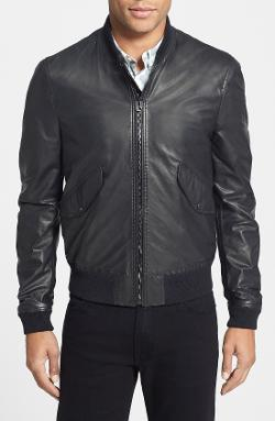 Burberry Brit  - Leather Bomber Jacket