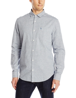 Original Penguin - Chambray Horizontal Stripe Shirt