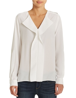 Lord & Taylor - Ruffle Front Blouse